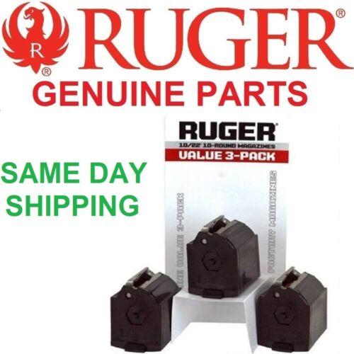 Ruger 90451 10/22 Magazine Value 3 Pack BX-1 22LR 10 Round