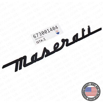 Maserati Matte Black Trunk Nameplate Logo Emblem Badges Ghibli OEM Accessories