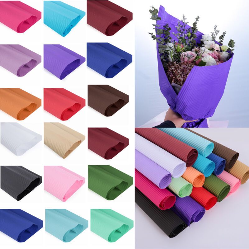 как выглядит 50 70cm Colored Corrugated Paper Scrapbooking Packs Wrapping Origami Paper фото