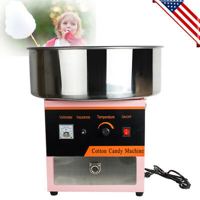 Electric Commercial Cotton Candy Machine Floss Maker Carnival Party Easy Use