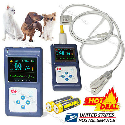 Veterinary Pulse Oximeter Spo2 Pulse Rate Monitor Tongue Ear Sensor Usb Software
