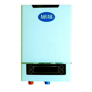 Brand new aquah 12 kw electric tankless water heater whole for Whole house electric heat