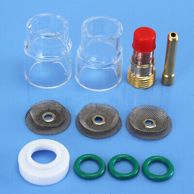 11pcs Tig Welding Kit 12 Pyrex Cup Saver Gas Lens 332 For Wp-171826 Torch