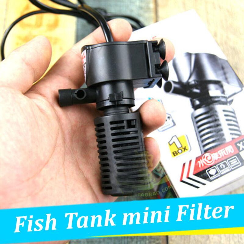 3 in 1 Mini Aquarium Innen Filter-Affen Unterwasser Pumpe Für Fischtank Neu
