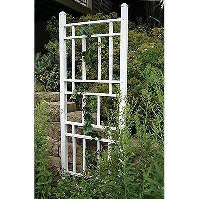 (Dura-Trel Wellington 6.25-ft. Vinyl Wall Trellis - White)