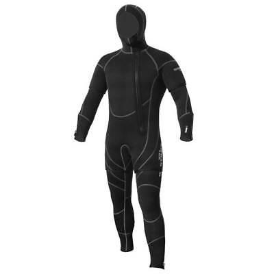 5mm 2 Piece Wetsuit - Sopras Sub NEW FREDDO 5mm 2 Piece Hooded Wetsuit SCUBA DIVE DIVING SEMI DRY SUIT