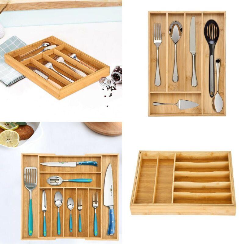 Expandable Cutlery Flatware Drawer Utensil Tray Kitchen Orga
