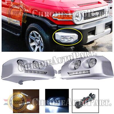 For 2007-2014 Toyota FJ Cruiser Chrome LED Front Fog Lights Driving Lamps