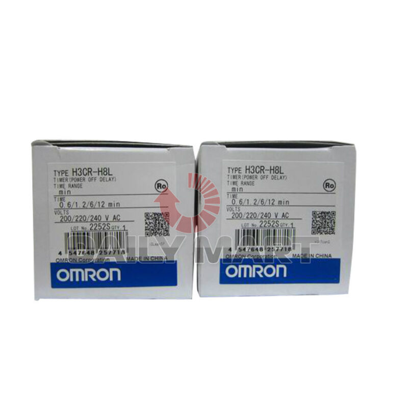 New Omron AUTOMATION AND SAFETY H3CR-H8L H3CRH8L RELAY TIMER 0-12MIN OFF-DELAY