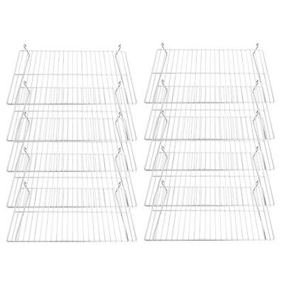 Gridwall Flat Display Shelf 24 X 12 White 10 Pcs