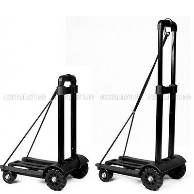 Portable Cart Folding Dolly Push Truck Hand Collapsible Trolley Luggage 170 Lbs