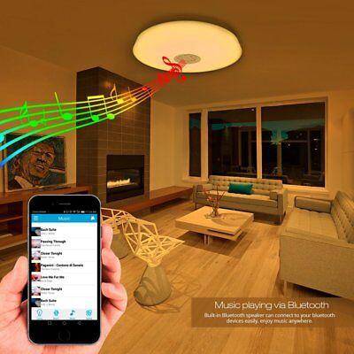 Lampara de techo LED con Altavoz Bluetooth Luz Blanca de Colores APP para Movil segunda mano  Embacar hacia Argentina