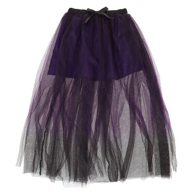 Claire's Ombre Purple/Black Skirt Tutu Sexy Halloween Costume Women's One size  - Halloween Costume Purple Skirt