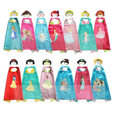 Princess Costumes Superhero Capes for Kids Halloween and Birthday Party Cosplay