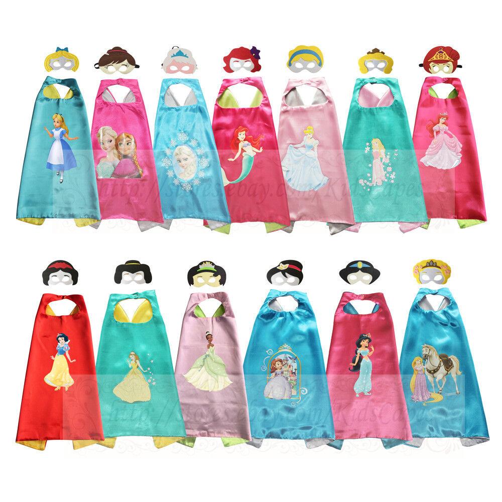 princess costumes superhero capes for kids halloween