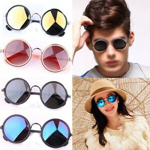 Retro-Vintage-Round-Lens-Mirror-Reflective-Sunglasses-Steampunk-Glasses-Goggles