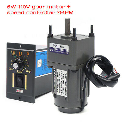6w 110v Gear Motor Electric Motor Variable Speed Controller 1180 Torque Large