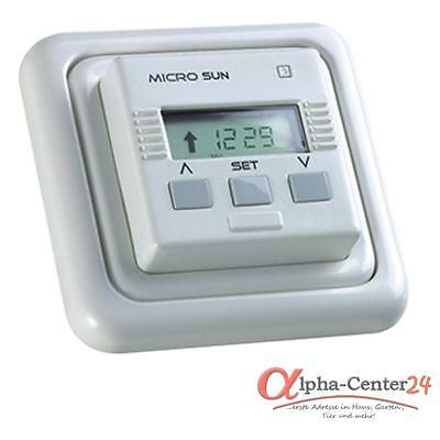 Simu Micro Sun Persiana Interruptor Eléctrico Automático Motor Control Blanco