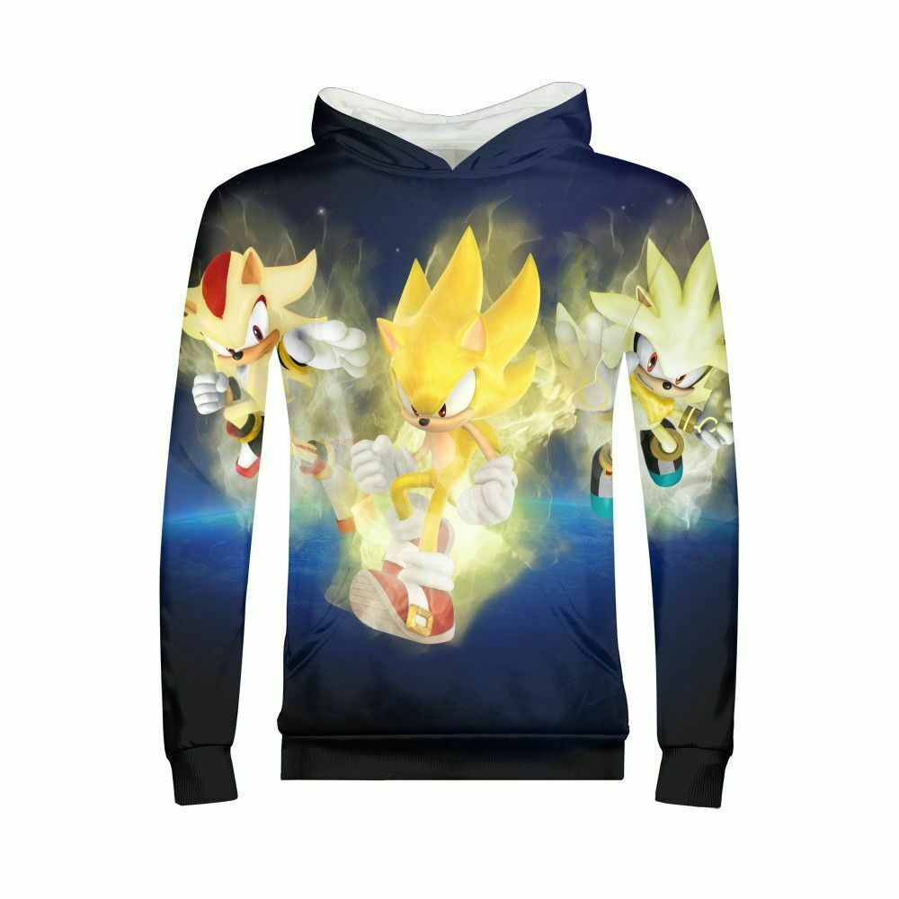 Sonic The Hedgehog Youth Graphic Hoodies Sweatshirt All Over Long Sleeve Casual Ebay