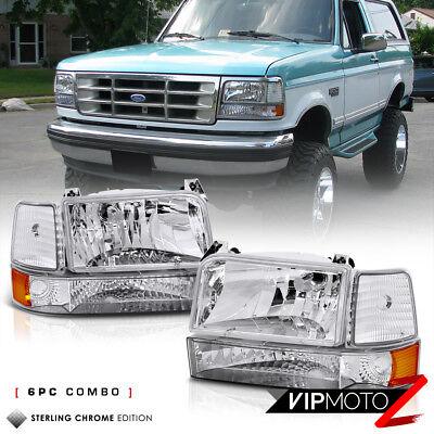 """1992-1996 Ford Bronco F150 F250 F350 """"FACTORY STYLE"""" 6P Corner Bumper Head Light"""