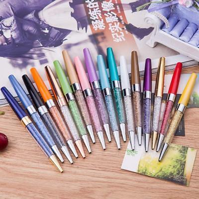 Lots 12x Bling Crystal Ball Diamond Pen Ballpoint Pens Fine Point Penblack Ink