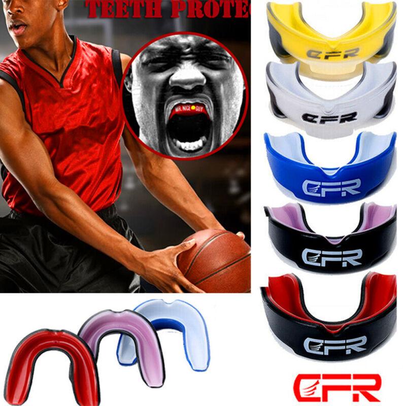 Gel Gum Shield Mouth Guard Kids Junior MMA Martial Boxing Ru