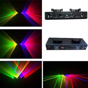 Brand New Quad RGVY laser projector  DMX disco stage DJ laser light show system