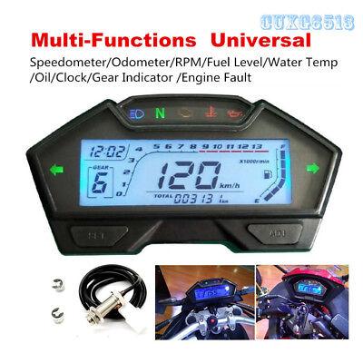 Multi-functions Speedometer Odometer Fuel Gauge Universal For DC 12V Motorcycle