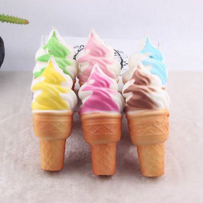 10Pcs Ice Cream Slow Rising Squeeze Stress Relief Scented Toy Cones Squishy Hot