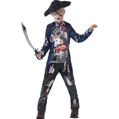 Smi - Halloween Kinder Kostüm Zombie Pirat mit - Zombie Pirat Kostüm Kind