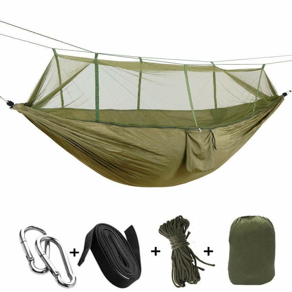 Outdoor Camping Mosquito Net Hammock Hanging Bed Nylon Swing ArmyGreen