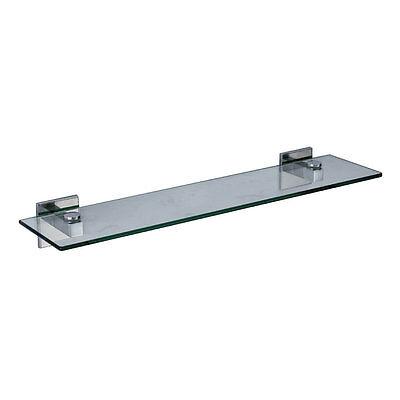 Saturn Modern Designer Bathroom Chrome Glass Vanity Shelf Wall Mounted
