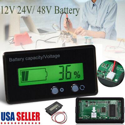 US LCD Display Acid Lead Lithium Battery Capacity Indicator Voltage Meter Tester