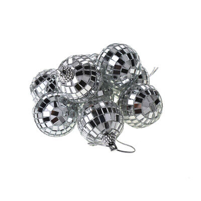 Hanging Mirror Disco Ball, Silver, 1-1/2-Inch, 9-Piece