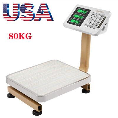 80kg Heavy Duty Digital Postal Parcel Platform Scales Shipping Weighing Lbkg
