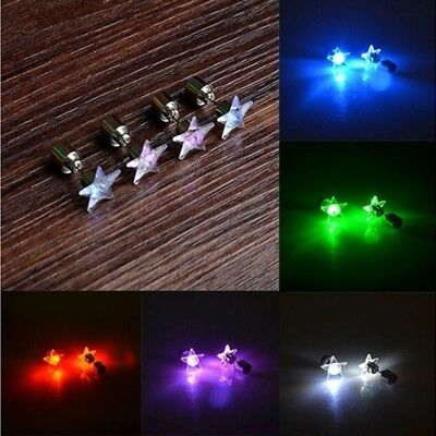 Womens Fashion Accessories Light Up Led Earring Studs Party Tool Cute Jewelry