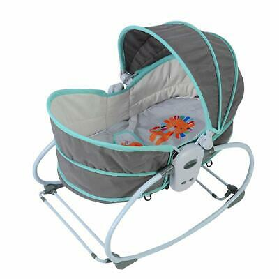 Baby Bassinet Infant Toddler Bouncer Multi-Functional Rocking Cradle w/ Canopy