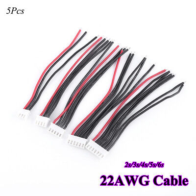 5pcs RC Lipo Battery Balance Charger Plug Connector 22AWG Cable For IMAX B3 B6