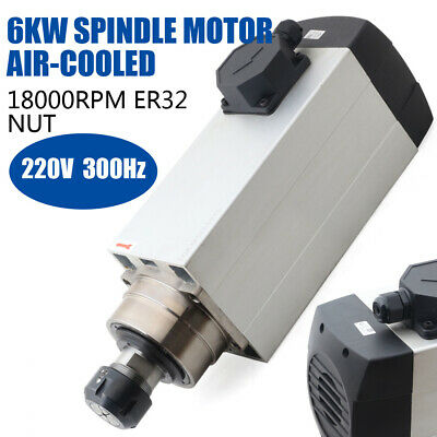 Cnc Spindle Motor 6kw 220v Air Cooled Milling Motor Er32 Collet 120mm
