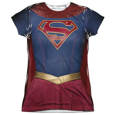 Supergirl TV Series SUPERGIRL UNIFORM Costume 1-Sided Poly Juniors T-Shirt