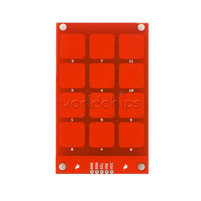 Mpr121 Capacitive Touch Keypad Shield Module Sensitive Key Keyboard For Arduino
