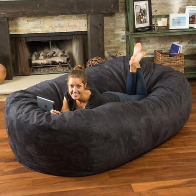Adult Bean Bag Chair Giant Large Dorm Furniture 8 ft Sofa Lo