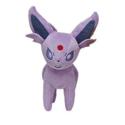 Eevee Pokemon Plush - Pokemon Espeon Evolution Eevee Figures Plush Toy Stuffed Doll 7'' Kid Baby Gift