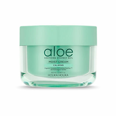 Holika Holika Aloe Soothing Essence 80% Moist Cream 100ml Free gifts