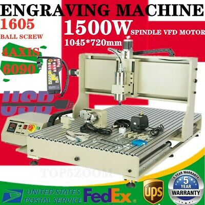 Usb 4axis 1.5kw Cnc 6090 Router Engraving Machine Cutter Mill Woodworkingremote
