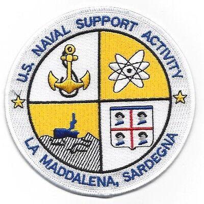 US Naval Support Activity Station LA MADDALENA SARDEGNA Military Patch - Navy