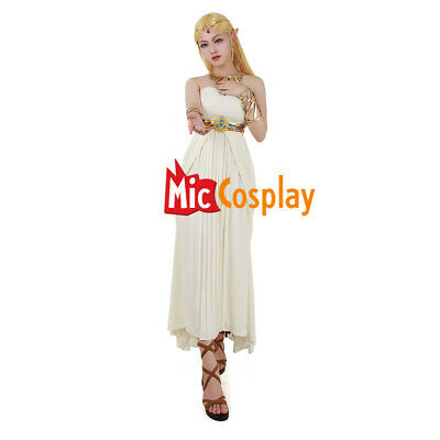 Princess Zelda Dress Costume off-White Outfit of The Legend of Zelda