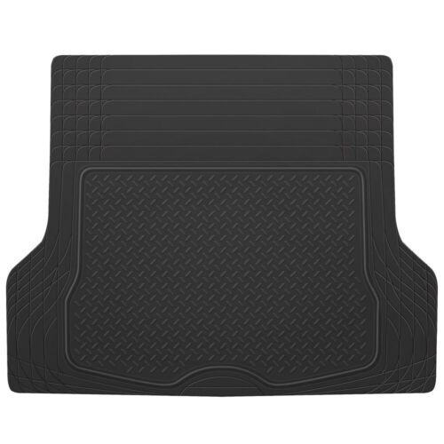 Cargo Trunk Floor Mat Liner for Car SUV Truck All Weather Semi Custom Fit Black