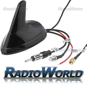 FM / AM / GPS / GSM Car Aerial Shark Fin Style Antenna DIN FME SMA Universal