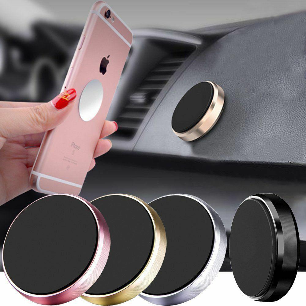 Magnetic Car Phone Holder Universal Wall Desk GPS Disc Round Metal Magnet Mount